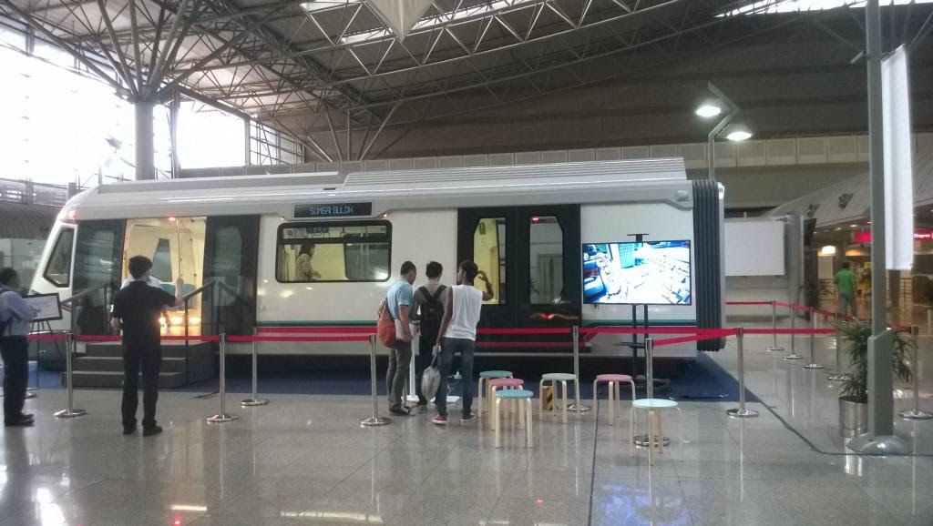 MRT replica is on display at KL Sentral