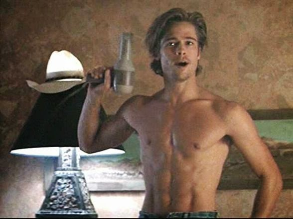588px Thelma and Louise Brad Pitt Overwhelm Hair blower Topless Hunk