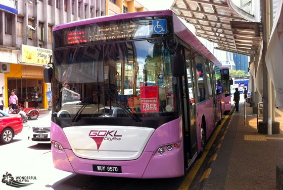 Public transport service GoKL's rides are free of charge!