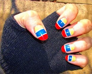 25 FIFA World Cup 2014 Brazil Nail Art Designs Ideas Trends Stickers Flags Nails 14