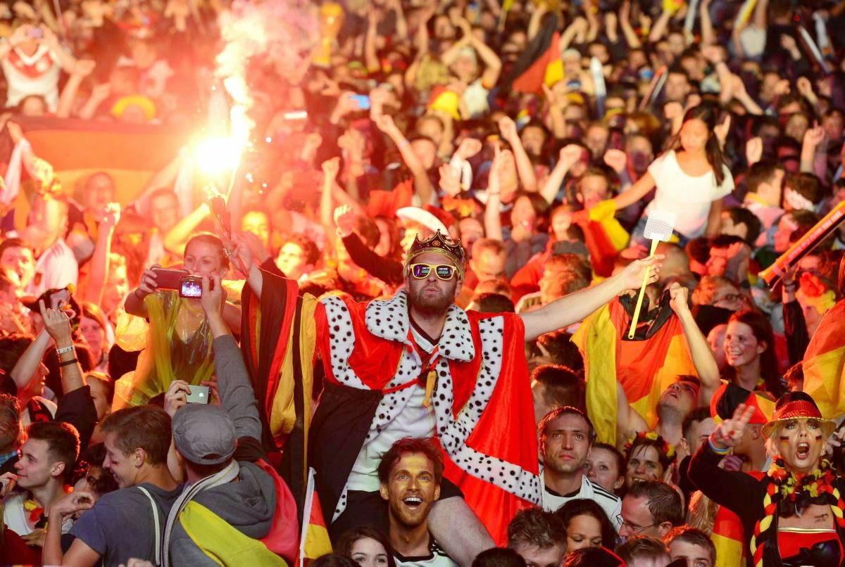 fans react world cup final argentina germany