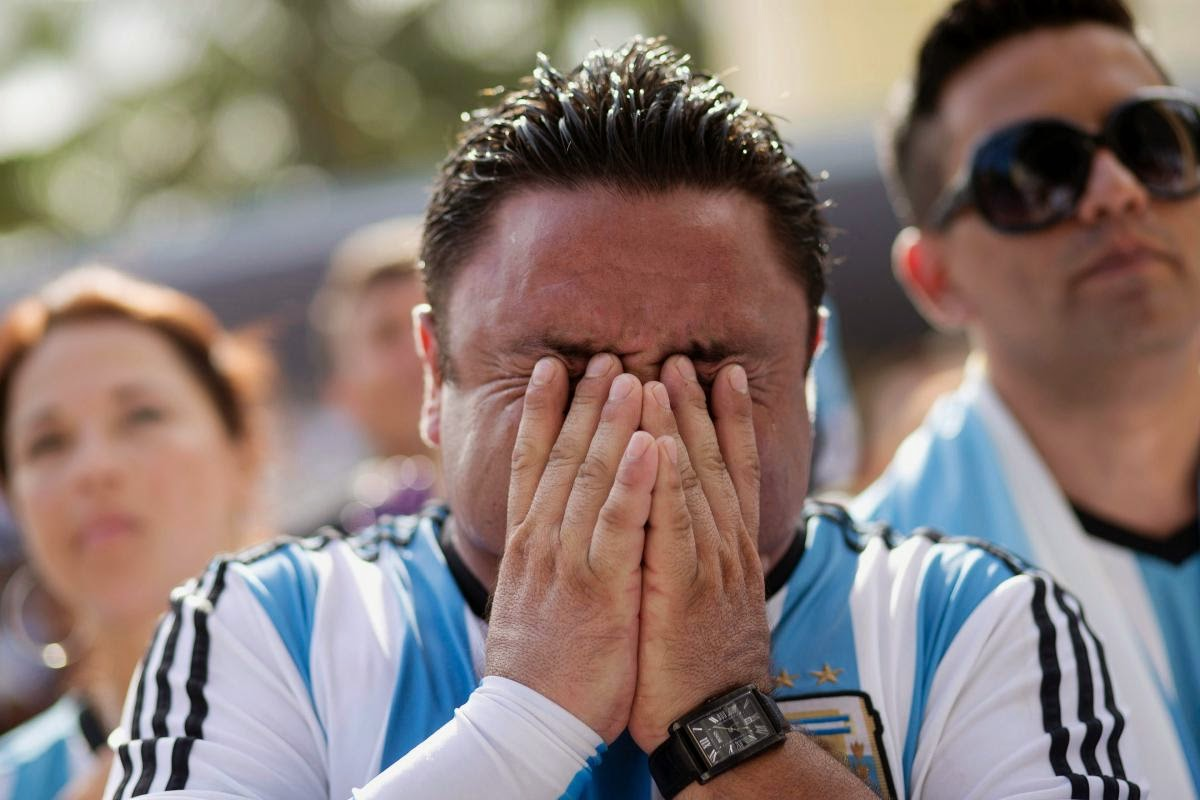 fans react world cup final argentina germany13