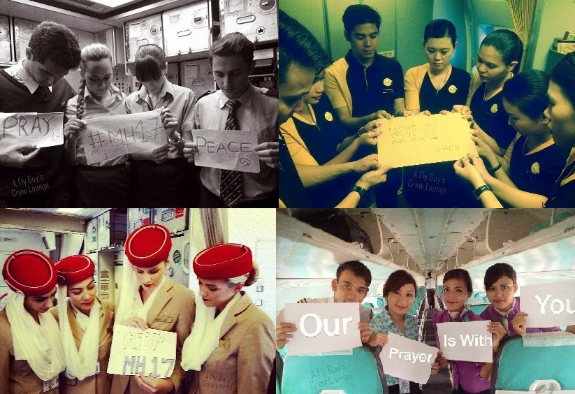 Airline employees show their love and support for MH17