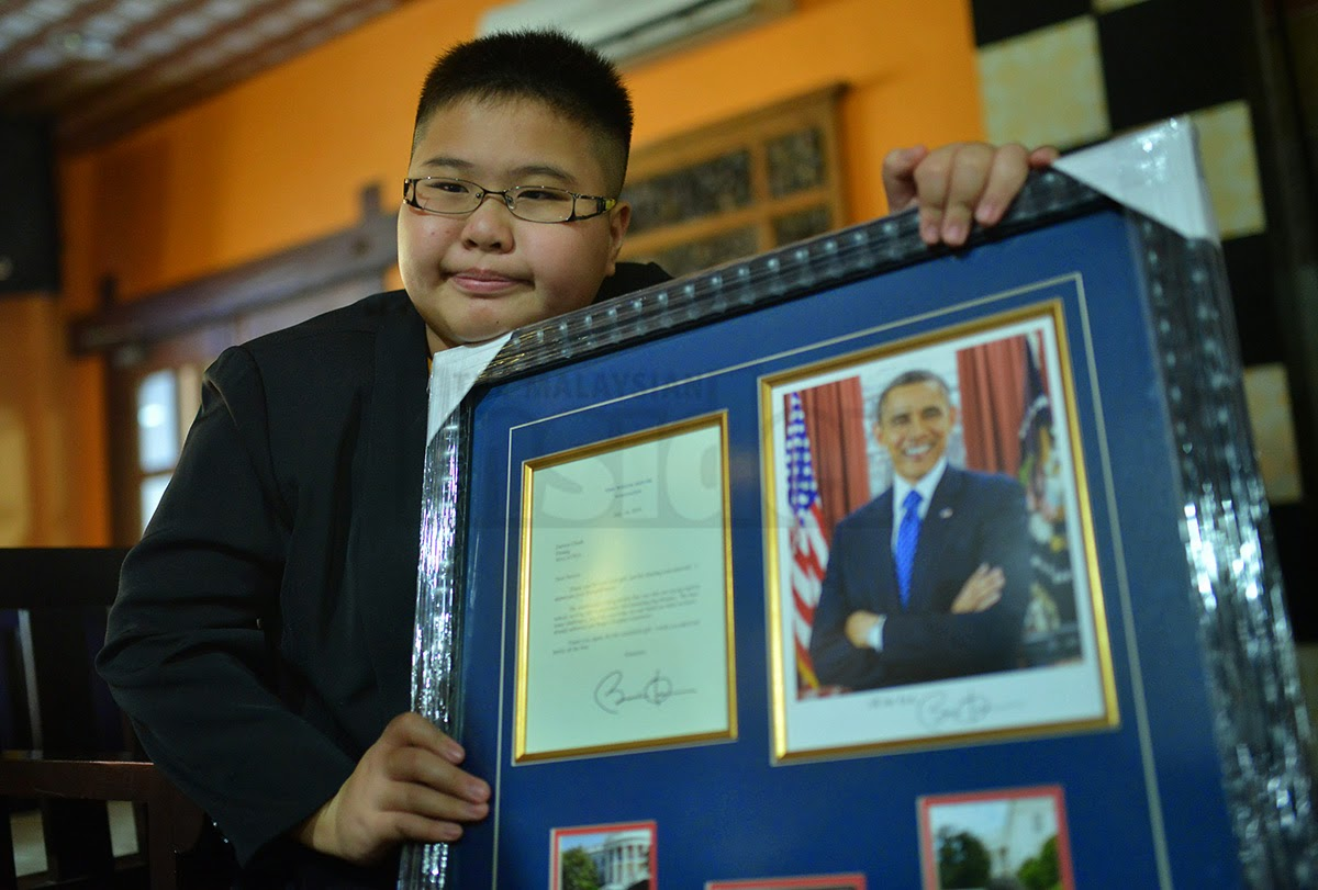 Penang's gifted autistic boy gets letter from Obama