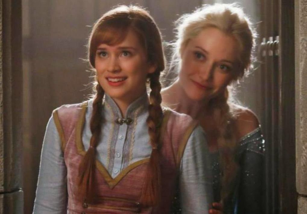 """""""Frozen"""" princesses Anna and Elsa on """"Once Upon A Time"""""""