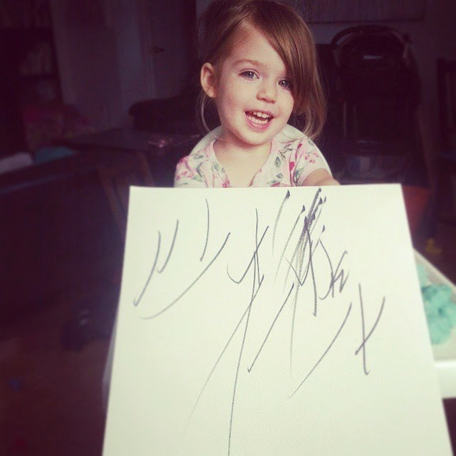 Artist turns 2-year old daughter's doodles into fab paintings!