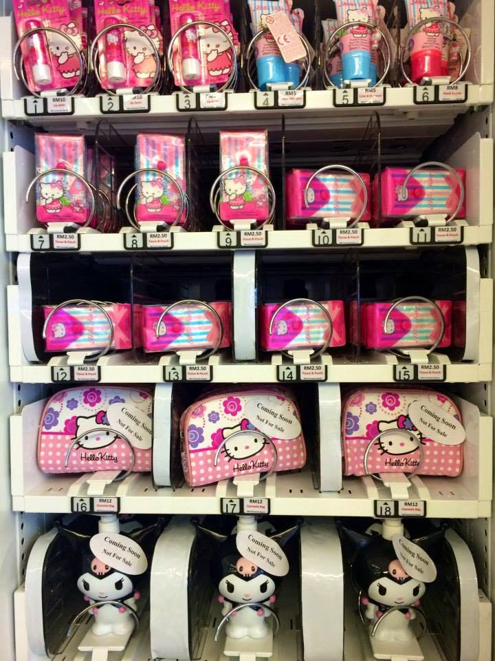 There's a Hello Kitty Vending Machine in Malaysia!