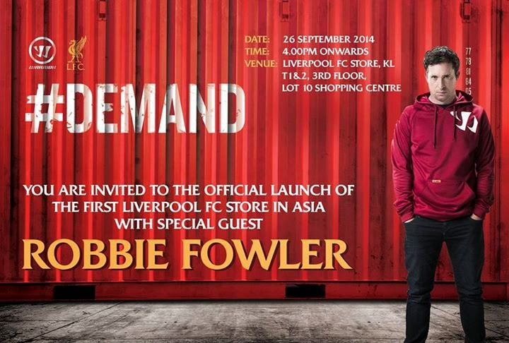 Meet Robbie Fowler at Asia's 1st Liverpool FC store at Lot 10