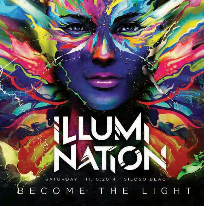 Asia's first glow-in-the-dark party, Illumi Nation in Singapore