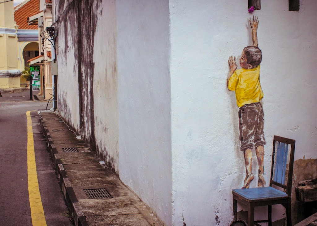 Street Art by Ernest Zacharevic in Penang Malaysia 4