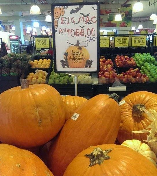Would you buy this Pumpkin at Village Grocer for RM1,088?