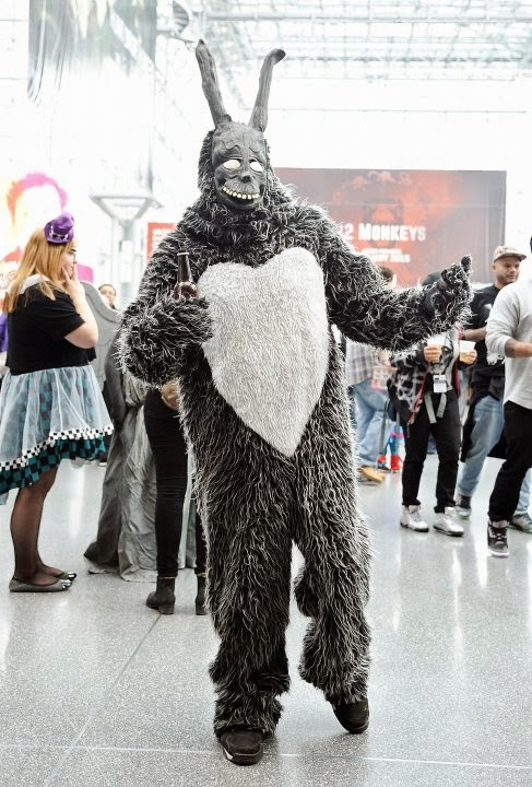some of the cosplay this year was downright scary from this donnie darko rabbit