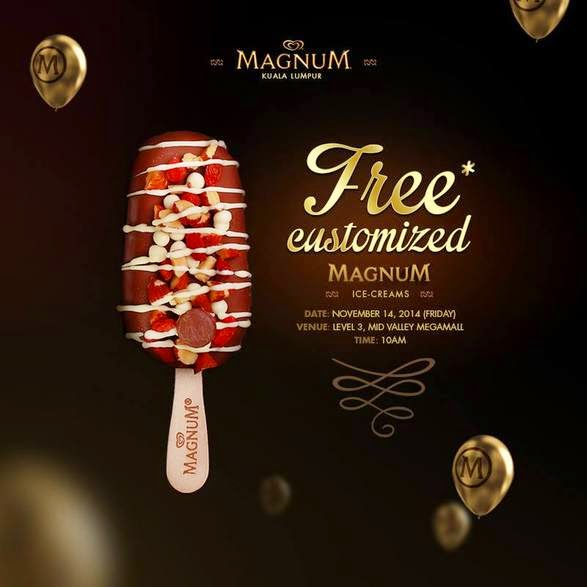 500 Free Magnum ice creams at Mid Valley this Friday!