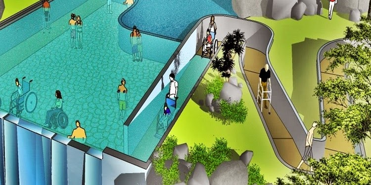 First waterfall pool for the disabled in Malaysia