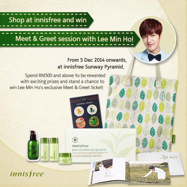 Innisfree Malaysia Meet Greet Session with Lee Min ho