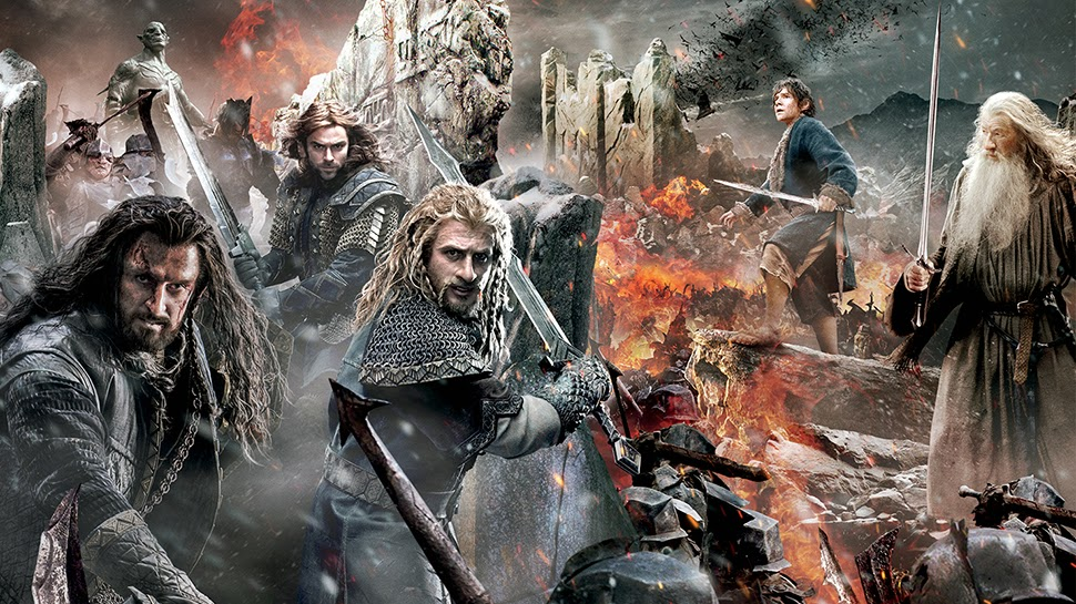 The Hobbit Battle of Five Armies tapestry featured