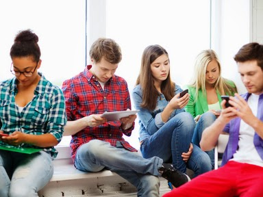 young smartphone users