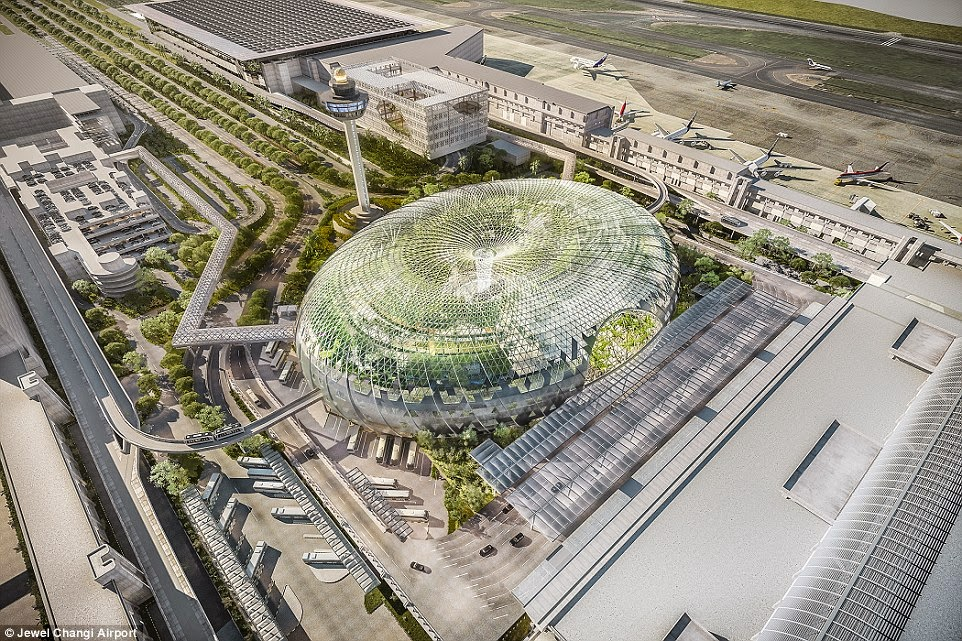 S'pore's Jewel Changi Airport will have an indoor rainforest!