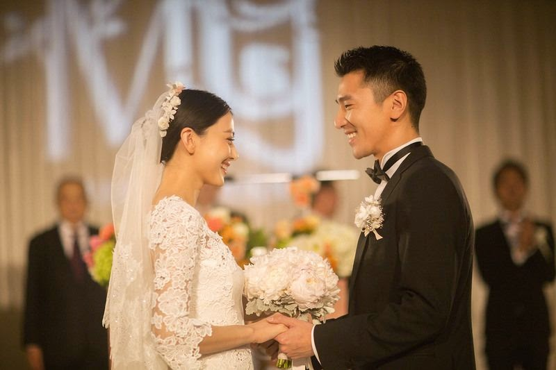Mark Chao and Gao Yuanyuan exchange vows