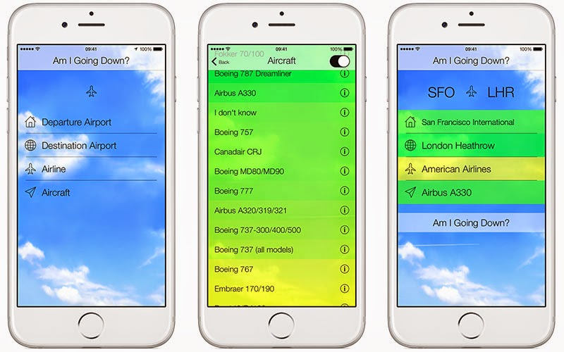 This App will tell you the odds of your plane crashing