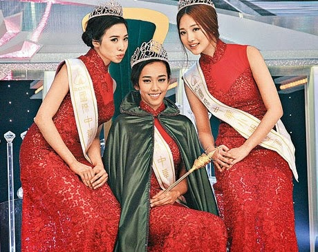 Mandy Choi is surprised to win Miss Chinese International