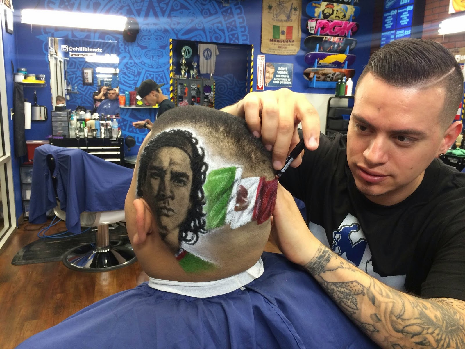 Shaving your idol on the back of your head