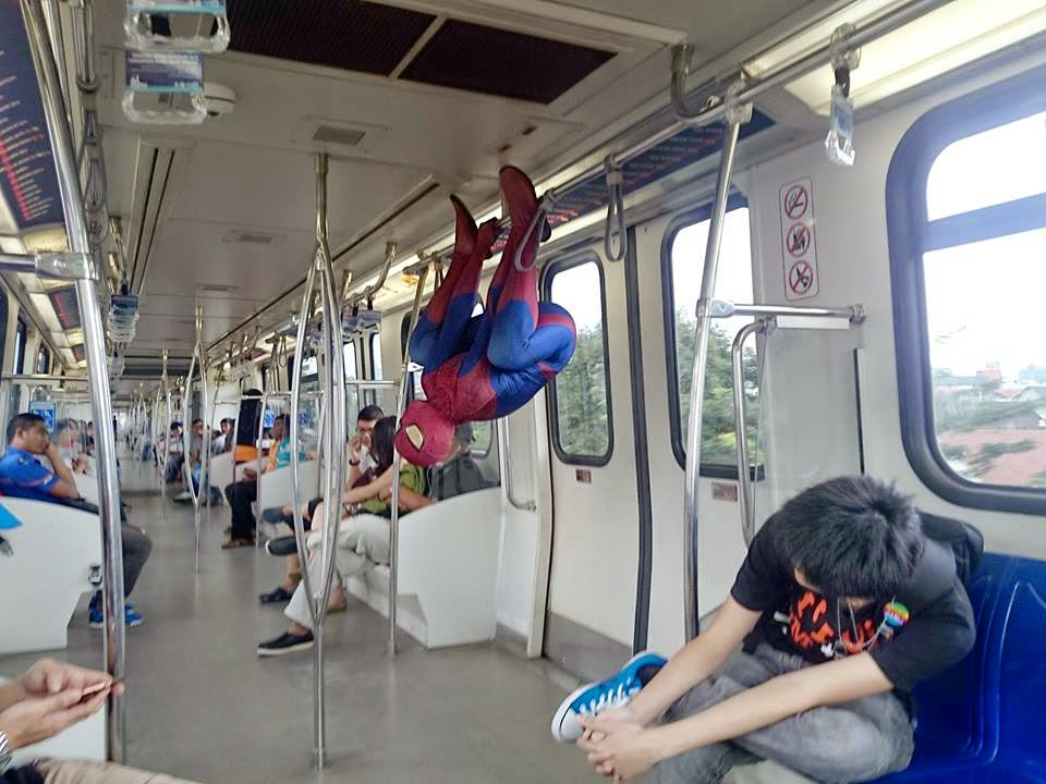 Spider-Man dances in LRT for Ed Sheeran sold-out tickets