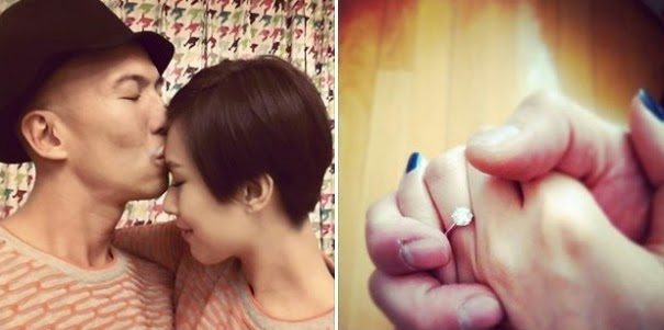 Queenie Chu and Eddie Pang are engaged
