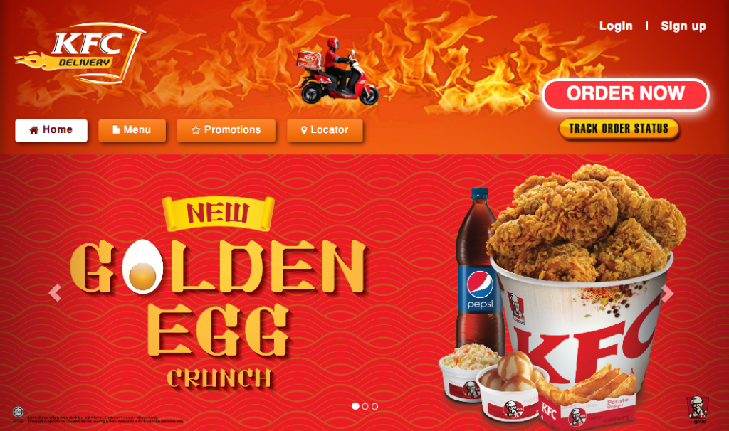 KFC delivery now let's you order online too