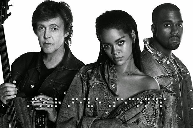 """Rihanna, Kanye and McCartney in """"FourFiveSeconds"""" video"""