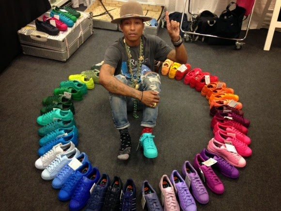 Pharrell and Adidas launch Supercolour sneakers