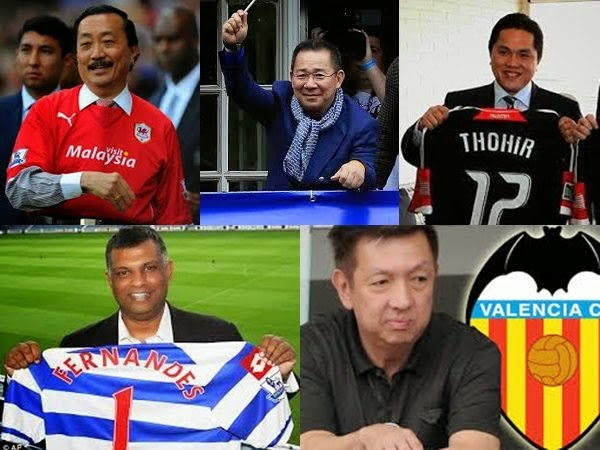 Asian millionaire owners of European football clubs
