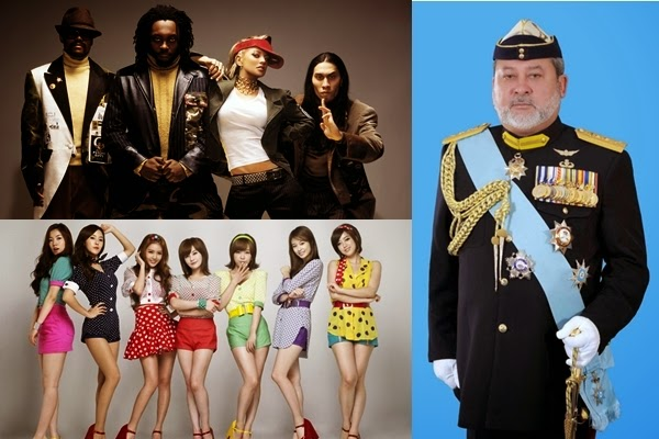 Black Eyed Peas, T-Ara and more for Sultan of Johor's coronation