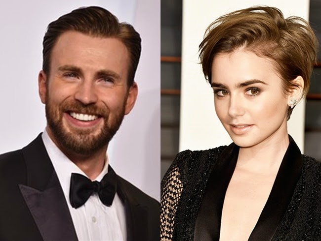 Chris Evans and Lily Collins are dating
