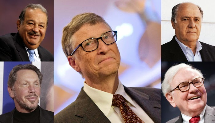 Forbes' World's Top 5 Billionaires of 2015
