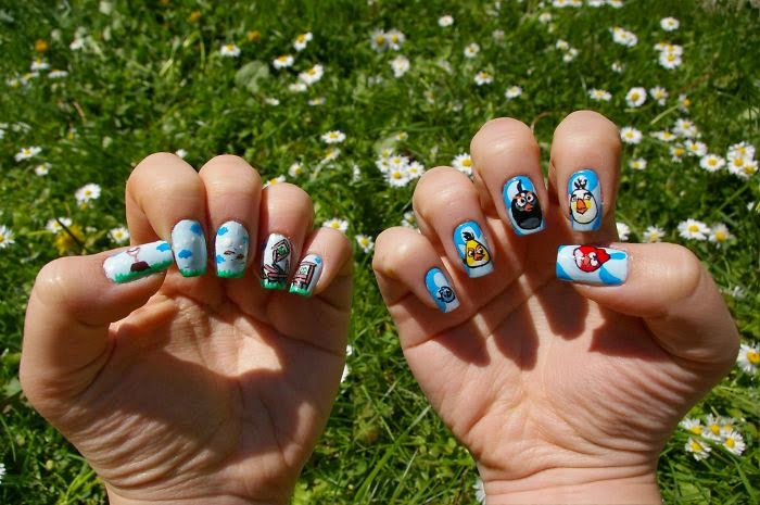 Your Favourite Cartoons Movies and Games Turned Into Nail Art 700
