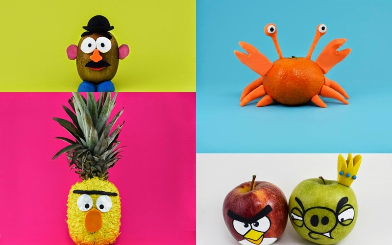 Artist uses fruits to create cute characters and animals