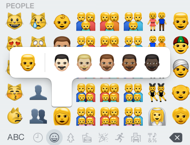 New gay and lesbian family emoji in updated iOS