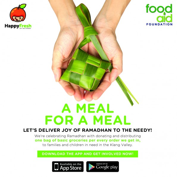 Buy groceries with HappyFresh and help those in need