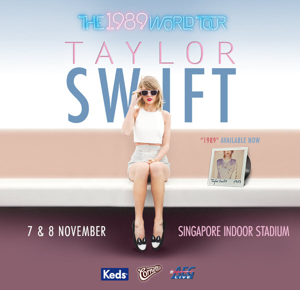 """Taylor Swift returns to Singapore for """"1989 World Tour"""""""