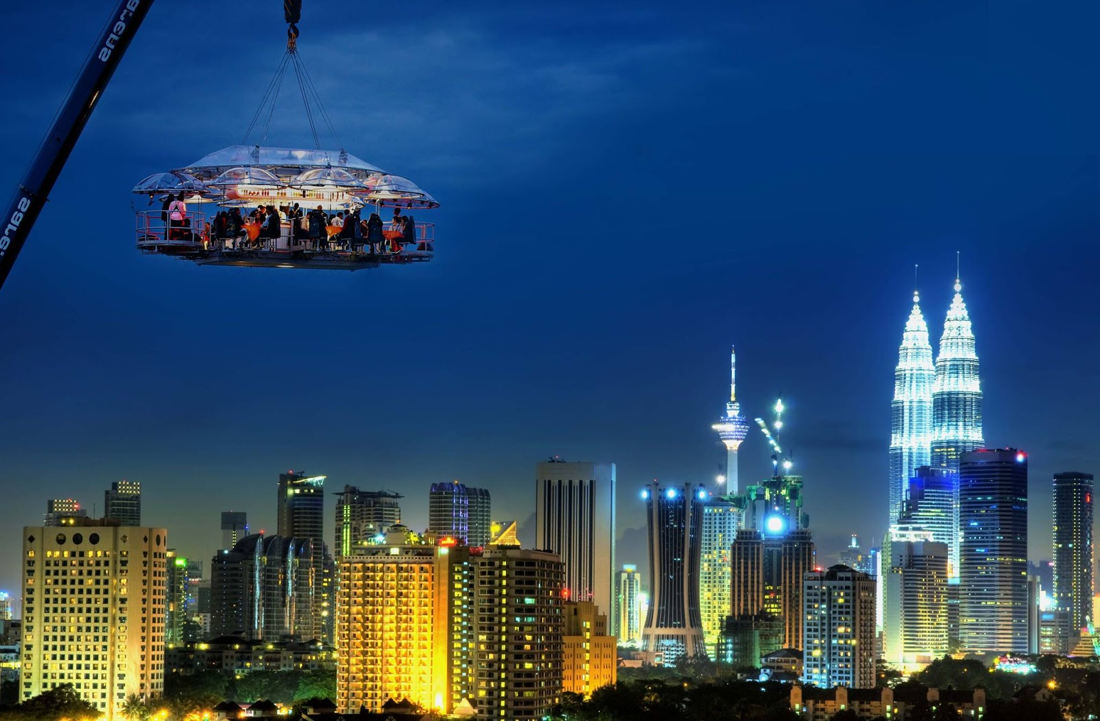 For RM599, dine with Dinner in the Sky Malaysia