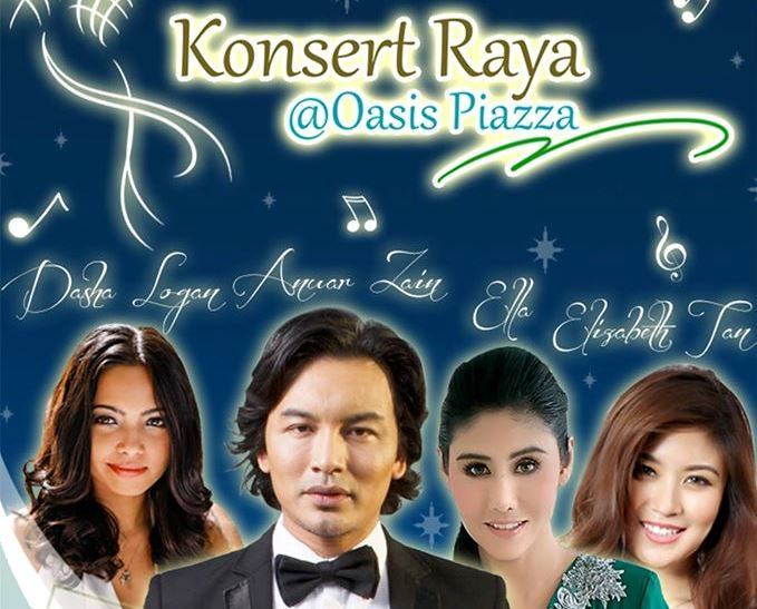 Free Raya concert at Oasis Piazza this August!