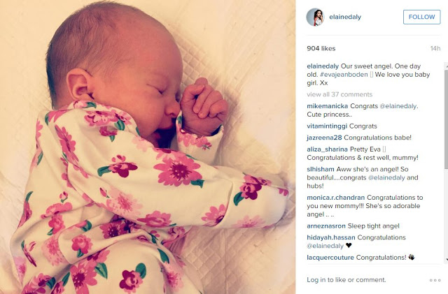 Actress, host, Elaine Daly is now a mother