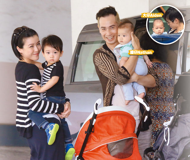 Moses Chan and wife show off sons