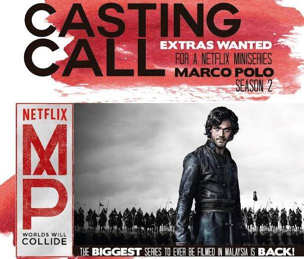 """""""Marco Polo"""" season 2 is auditioning for extras"""