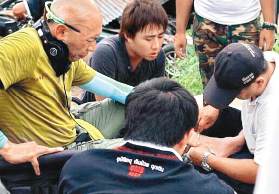 Dante Lam shares painful encounter with a centipede