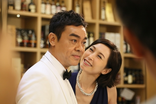 Sean Lau and Amy Kwok film commercial together