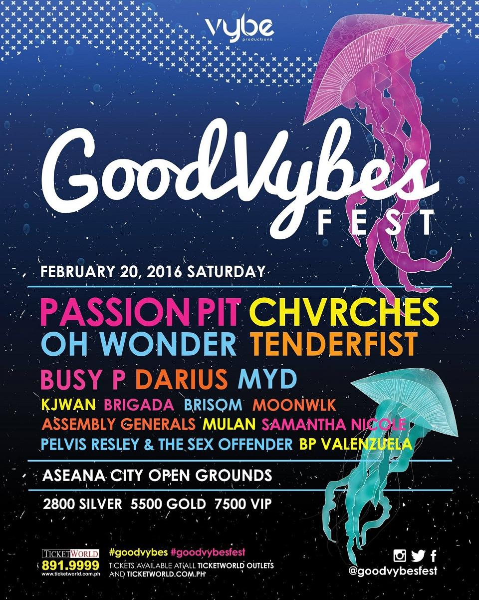 International acts are heading over to Manila for GoodVybes Festival