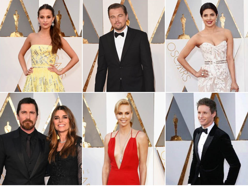 Stars at the Oscars 2016 red carpet
