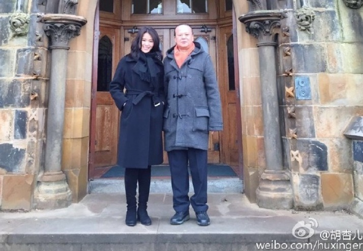 Myolie Wu takes dad to her alma mater